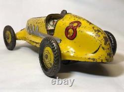 Vintage Marx Pressed Steel Wind Up Race Indy 500 Car #8