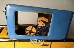Vintage Marx Tin Litho Cadillac Coupe Car with Driver Wind Up Toy 11.25