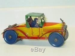 Vintage Marx Tin Litho Racer Car, Wind Up Toy Vehicle, Works