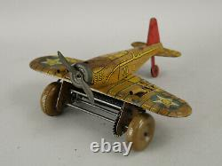 Vintage Marx Tin Litho Wind-up Sparking US Army 712 Toy Airplane AS-IS Parts/Rep