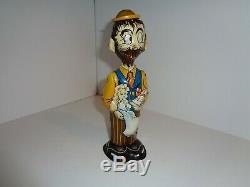 Vintage Marx Tin Wind-Up Toy B. O. Plenty, Dick Tracy, Baby Sparkle
