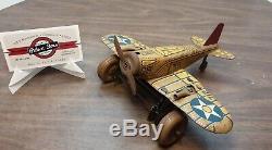 Vintage Marx Tin Windup U. S. Army Sparking Airplane