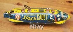 Vintage Marx Tom Corbett Space Cadet Polaris Rocket Ship Tin Toy Windup 12