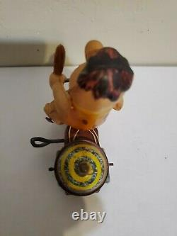 Vintage Marx Toy Fred Flintstone on Tricycle Wind Up Toy 1962