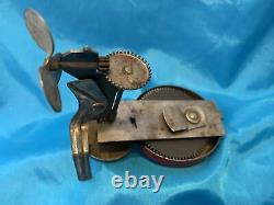 Vintage Marx Toy Steel Boat 12 1/2 Long with RARE Outboard Motor 1930s Era