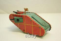 Vintage Marx WW1 Doughboy Tin Wind Up Tank with Pop-up Soldier & Flag EX Must L@@K