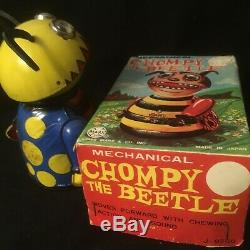 Vintage Marx Wind-Up Chompy the Beetle Tin Toy with Original Box