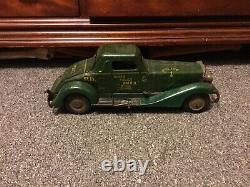 Vintage Marx Windup 1ST PCT. Siren Police Patrol Car Press Steel SOLD AS-IS