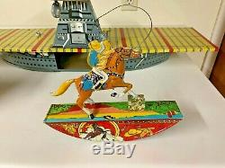 Vintage Marx tin windup ranger rider with box