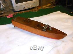 Vintage Mengel toy boats wind up toys. Rare Boat Strong Wind-Up Brass