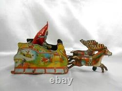 Vintage Metal Strauss Santee Claus Wind Up Toy Dated 1921