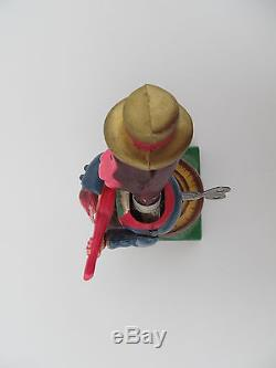 Vintage Occupied Japan Wind Up Toy'Monkey Playing Guitar