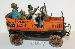 Vintage Original Amos & Andy Fresh Air Taxi Marx Wind-up