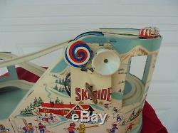 Vintage Original J. Chein Ride SKI RIDE Wind Up Tin