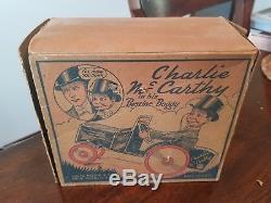 Vintage Original MARX CHARLIE McCARTHY Wind Up Toy CRAZY CAR Working excellent