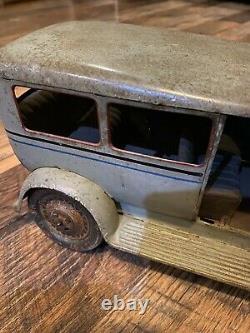 Vintage Paya Tin Toy Windup Car Sedan 14