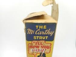 Vintage RARE Charlie Mccarthy Strut Wind up Tin Litho Toy in Original Box