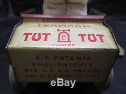 Vintage Rare German 1900s Lehmann Tut Tut Tin Litho Wind Up Toy Automobile Car
