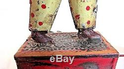Vintage Rare Günthermann 1905 Tin Wind-up Man Being Pulled By Two Ducks Working