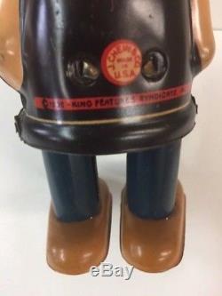 Vintage Rare J Chein Popeye wind up toy