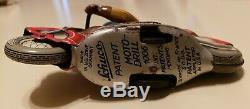 Vintage SCHUCO motodrill 1006 Motorcycle Tin Litho WindUp Toy RARE #1