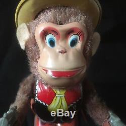 Vintage Shooting Monkey Sheriff Nomura Japanese Wind Up