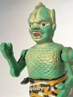 Vintage Son of Garloo Marx Wind-Up Tin Toy Green Monster 1960s Free Shipping