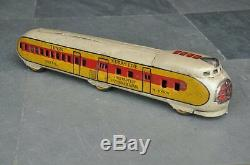 Vintage Streamline M-10000 Wind Up Handpainted Train Tin Toy, Japan