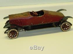 Vintage Structo Wind Up Stutz Car, Early Pressed Steel Toy, Works