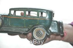Vintage T. N Trademark KKK Litho Big Car Wind Up Tin Toy, Japan