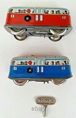 Vintage Technofix ROCKY MOUNTAINS TRAIN Wind Up Toy Set #312 Western Germany