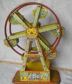 Vintage Tin Litho Chein Hercules Ferris Wheel Works