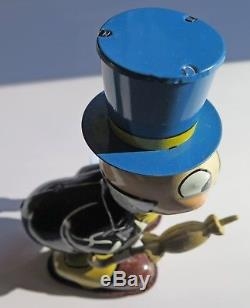 Vintage Tin Litho Jiminy Cricket Wind Up Toy LineMar Walt Disney