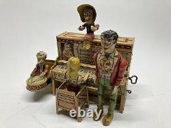 Vintage Tin Litho Toy Li'l Abner Dogpatch Band Mechanical Tin Wind-Up Unique Art