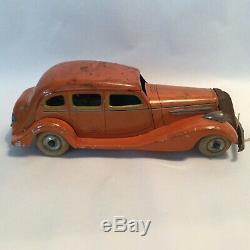 Vintage Tin Litho Windup Car CK Kuramochi Pre-War Japanese Graham Page Saloon