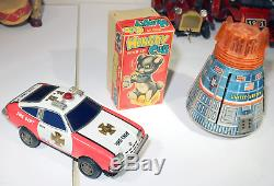 Vintage Tin Toy Parts Lot Battery Wind Up Friction Marx Japan Car Tank Tractor