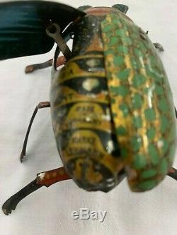 Vintage Tin Wind Up Lehmann Beetle Works