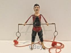 Vintage Tin Wind-up Toy ACROBAT TRAPEZE Gunthermann Works