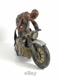 Vintage US Zone Germany CKO 353 Kellerman SOZIUS Motorcycle Tin Windup Toy