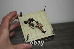 Vintage US Zone Germany Slugger Champions Tin Wind Up Litho Toy