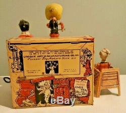 Vintage Unique Art Ll'L Abner & His Dogpatch Band Tin Litho Windup Toy with OB