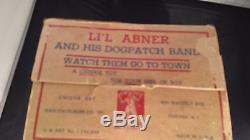 Vintage Unique Art Mfg Li'l Abner Dogpatch Band Mechanical Toy Original Box 1945