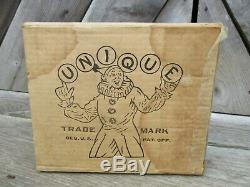 Vintage Unique Art Sky Rangers Lithograph Tin Wind Up Toy with Box Zeppelin Works