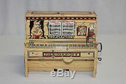 Vintage Unique Art Tin Litho Wind Up Lil Abner Dogpatch Band Works EX Must L@@K