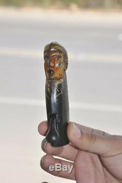 Vintage Unique Mechanical Fire Sparkle Man Litho Tin Toy, Germany/Japan