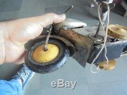 Vintage Unique Silver Color Wind Up Solid Motorcycle/Bullet Bike Tin Toy, Japan