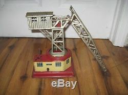 Vintage Us Zone German Crane Antique Tin Toy Wind Up Rare Marklin Bing Station