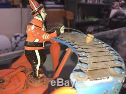 Vintage WOLVERINE ZILOTONE TIN TOY WIND-UP 1930s With Disc (FREE SHIP)