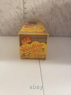 Vintage Whistling Boy Wind Up Mechanical Toy With Original Box 1951 Irwin Toys