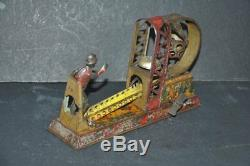 Vintage Wind Up C. K Trademark Litho Player Playing Foot Ball Tin Toy, Japan